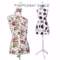 Female Mannequin  Dress Form W/ White Tripod Stand