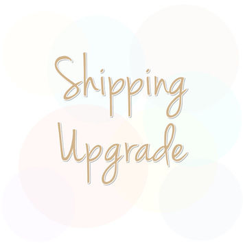 Expedited Shipping, Courier Shipping, Shipping Upgrade