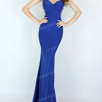 CHEAP! Long SEXY Mermaid BEADED Bridesmaids Formal Wedding Evening Party Dresses