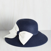 As a Hatter of Fact Hat in Navy | Mod Retro Vintage Hats | ModCloth.com