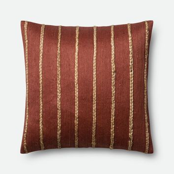 Loloi Rust / Steel Decorative Throw Pillow (P0443)