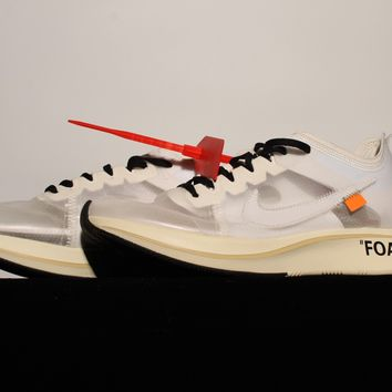 """[Free Shipping ]OFF - WHITE × Nike Zoom Fly """"OW Basketball Sneaker"""