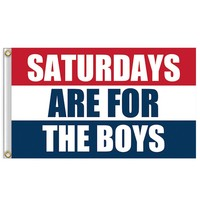 Saturdays Are For The Boys Flag 3x5ft Banner  Red White Blue