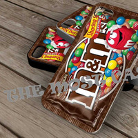 chocolate m&m on iPhone 4 / iPhone 4S / iPhone 5 / Samsung S2 / Samsung S3 / Samsung S4 Case Cover THEMOSTCASE