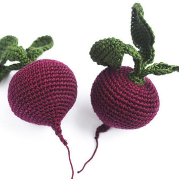 Crochet Beetroot - Crochet Fruits - Play Food - Educational toys