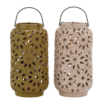 The Cool Ceramic Lantern 2 Assorted
