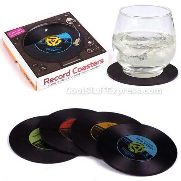 Vinyl Record Drink Coasters From Cool Stuff Express My