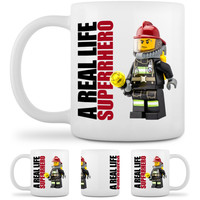 Firefighter Superhero Mug