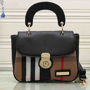 Burberry Women Shopping Leather Chain Tote Handbag Satchel Crossbody