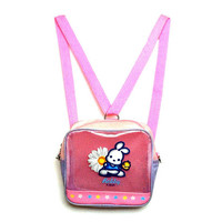 90's Robby Rabbit Daisy Sanrio Mini Clear Backpack Purse