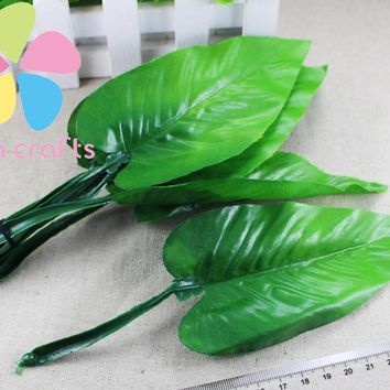 Approx 21cm Calla lily leaves Artificial flowers DIY stocking flowers material 12pcs lot 086020010