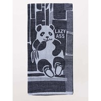 Lazy Ass Panda Eating Bamboo Dish Towel