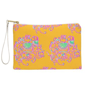 Joy Laforme Far Far Away Elephants In Yellow Pouch