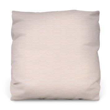 Blush Watercolor Stripes Outdoor Throw Pillow