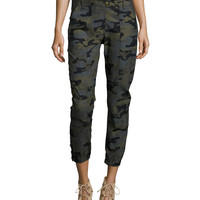 Field Camouflage-Print Cargo Pants, Size: 8, green - Veronica Beard