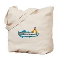 Long Beach Island NJ - Surf Design Tote Bag> New Jersey Shore > Beach Tshirts.