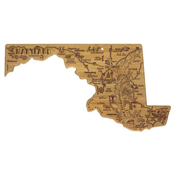 Totally Bamboo® Maryland Destination Cutting Board