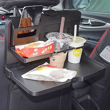 Auto Back Seat Folding Table Food Tray Or Laptop Desk