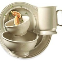 20-Pc Essex Falls Dinnerware Set, Taupe