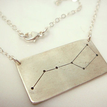 Big Dipper Constellation Necklace Pmc by willajunejewelry on Etsy