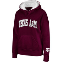 Texas A&M Aggies Ladies Arched Name Hoodie - Maroon