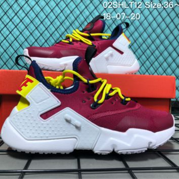 KUYOU N039 Nike Air Huarache 6 Drift 2018 Ultra Kint Fashion Running Shoes Wine Red