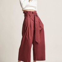 Wide-Leg Paperbag Pants
