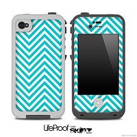 Blue Chevron Pattern for the iPhone 5 or 4/4s LifeProof Case