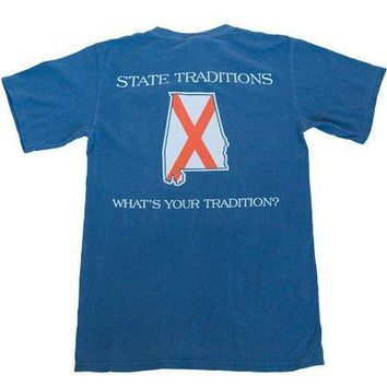 AL Auburn Traditional T-Shirt in Navy by State Traditions