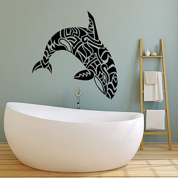 Vinyl Wall Decal Abstract Sea Animal Dolphin Killer Whale Stickers (2325ig)