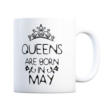 May Birthday Gift Queens Are Born 11 oz Coffee Mug Ceramic Coffee and Tea Cup