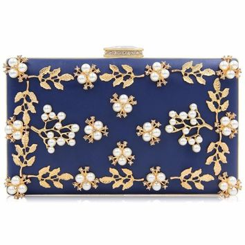 Women Evening Bags Fashion Beaded Clutch