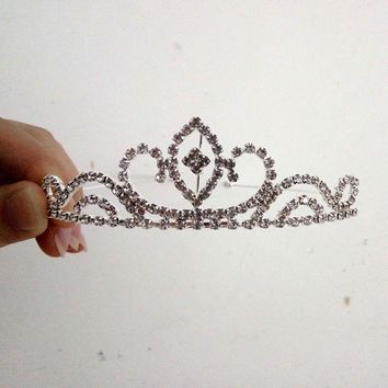 Baby Girl Head band Princess Crown Headband Crystal Diamond Tiara Headbands for Women Girls Hair Accessories