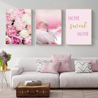 Pink Flamingo Unframed Wall Art Canvas