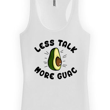 Funny Fitness Tank Less Talk More Guac Fitness Clothing Eating Gifts American Apparel Racerback Tank For Her Clean Eating Ladies Tank WT-211