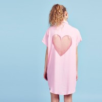 Lazy Oaf Pink Heart Cut Out Shirt - Everything - Categories - Womens