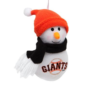 San Francisco Giants - Plush Snowman Ornament