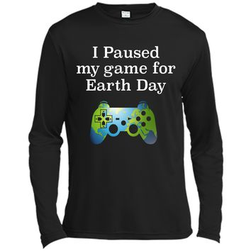 Earth Day 2018 Boys Kids Shirts Paused Game for Gift Idea Long Sleeve Moisture Absorbing Shirt