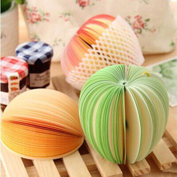 1pcs fruit vegetables Memo Pad Cute Kawaii Sticky Notes Post School Supplies Planner Stickers Paper Bookmarks stationery