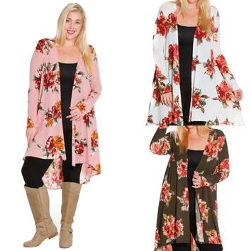 Floral Madness Cardigan Duster Jacket