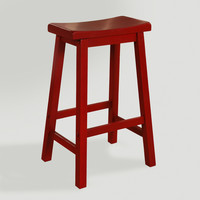 Red Schoolhouse Barstool - World Market