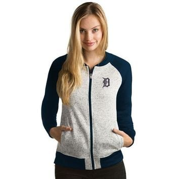ESBON MLB Antigua Detroit Tigers Women's Full-Zip Visitor Jacket