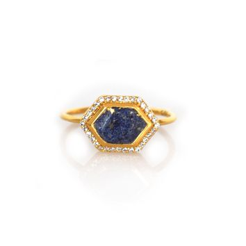 Lapis Lazuli and Diamond Royale Ring