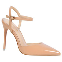 BIGTREE 2017 New Women Pointed Toe Slingbacks Pumps Thin Heel Buckle Strap High Heel Pumps Silver Closed Toe Pumps Shoes Party