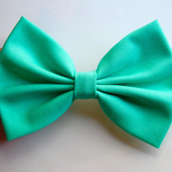 NEW - Layla Hair Bow - Seafoam Green Hair Bow with Clip