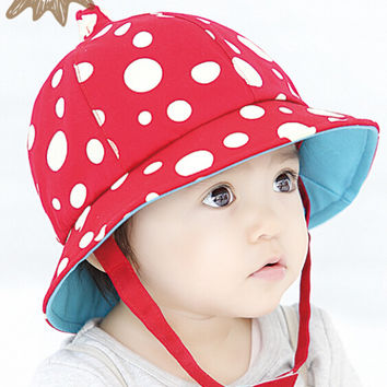 Cute Kids Red Fisherman Cap Hot Summer Gift 44