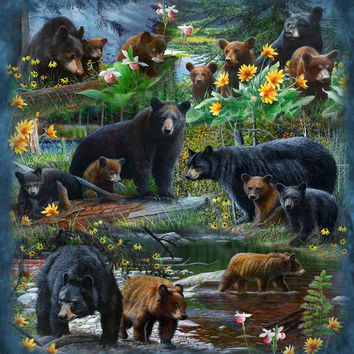 Signature Select Black Bear Forest Queen Blanket - Free Shipping in the Continental US!