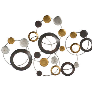 Stratton Home Decor Wall Hanging Metallic Circles