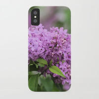 Lilac Bouquets iPhone Case by Theresa Campbell D'August Art