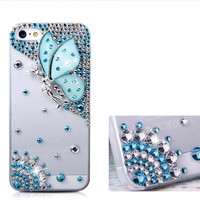 phone 4/4S/5 case - butterfly fairy iphone5 case iphone4 case iphone4s case fashion rhinestone